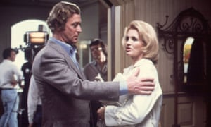Michael Caine and Angie Dickinson in Dressed To Kill.