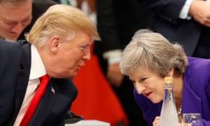 Donald Trump and Theresa May have a word
