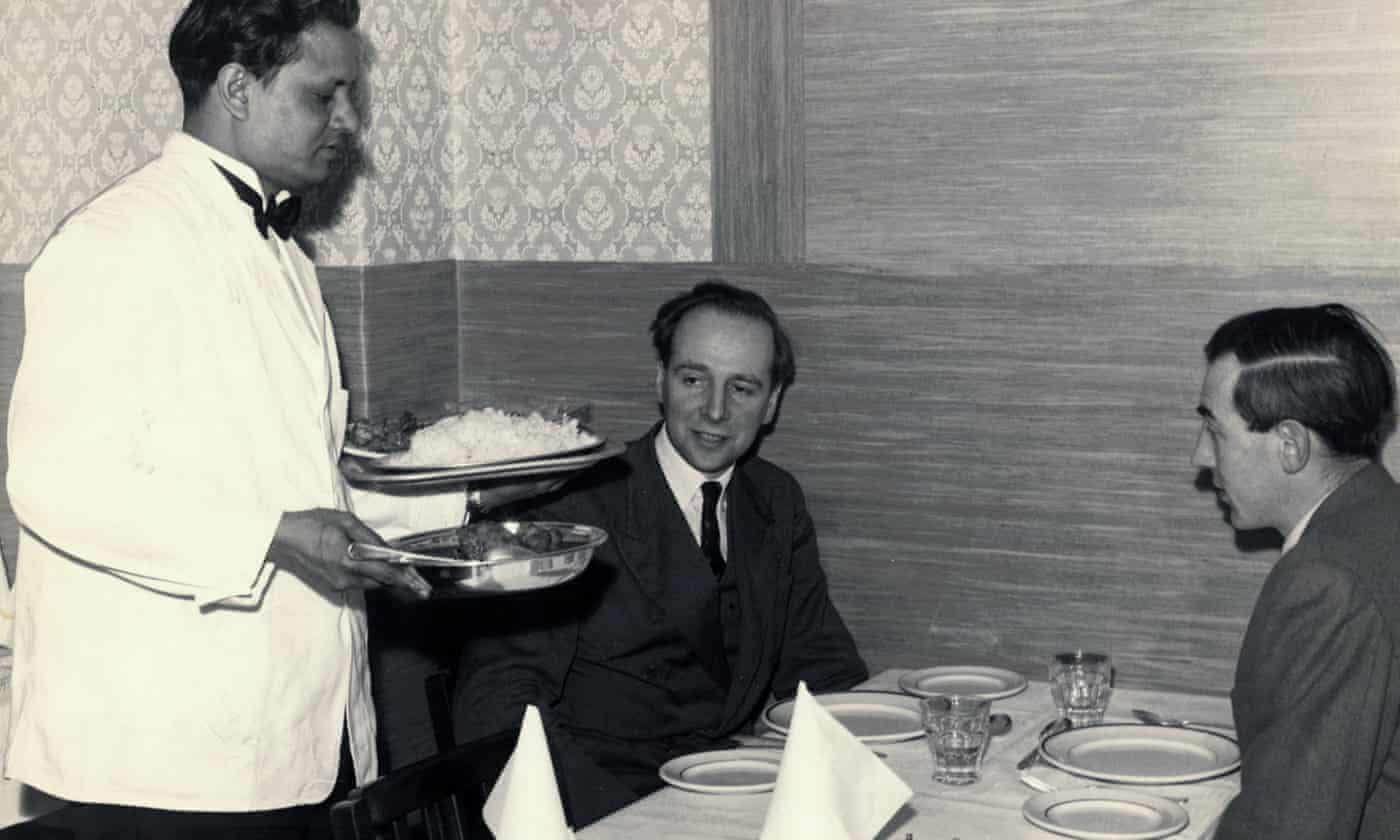 Rising popularity of Indian restaurants in Britain - archive, 1957
