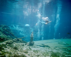 The Mermaid, Weeki Wachee Springs, 2017In the hunt for places of escapism, I discovered the mermaid show at Weeki Wachee Springs - an 80-year-old attraction set in the natural springs of a small, sleepy town on Florida's West Coast. As I photographed, the auditorium filled with an adult audience... all of whom seemed to believe.