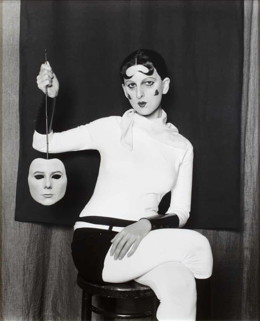 Me as Cahun holding a mask of my face, by Gillian Wearing, 2012.