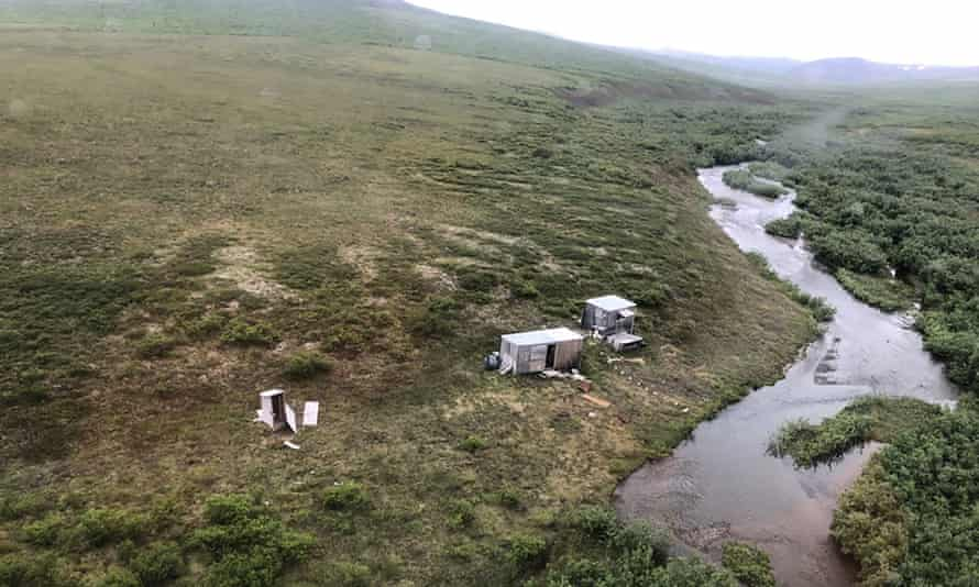 The remote mining camp near Nome, Alaska, where Richard Jessee survived his ordeal this month. 'I don't know why it was so aggressive,' he said. 'Maybe it had cubs nearby.'
