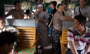 Catholics from Kachin state make a two-day train journey from Myitkyina to Yangon to see Pope Francis