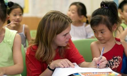 A Tefl teacher in China.