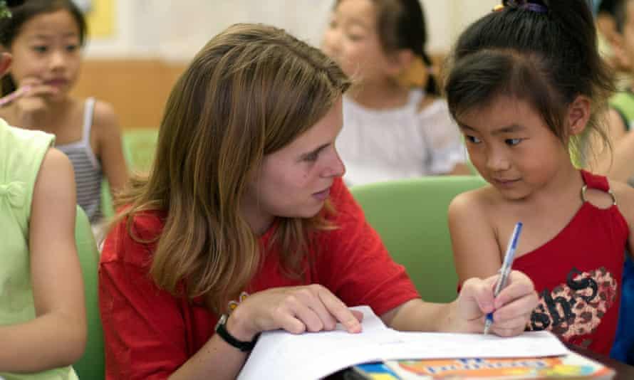 Teaching English in China.