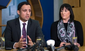 Glasgow Labour MSP Anas Sarwar with Kimberly Darroch, the mother of Milly Main.