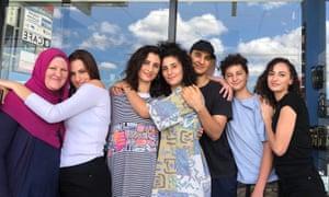 A Hamouda family photo from last Christmas, without their dad. Mum (Evelyn), Amira (21), Lamisse (29), Jasmine (27), Harun (20), Kareem (14) and Saja (23)