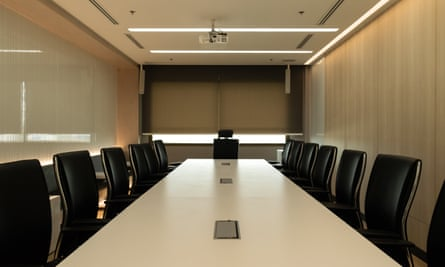 empty meeting room and table and chairs