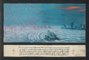 A whale during a 1531 earthquake in Lisbon