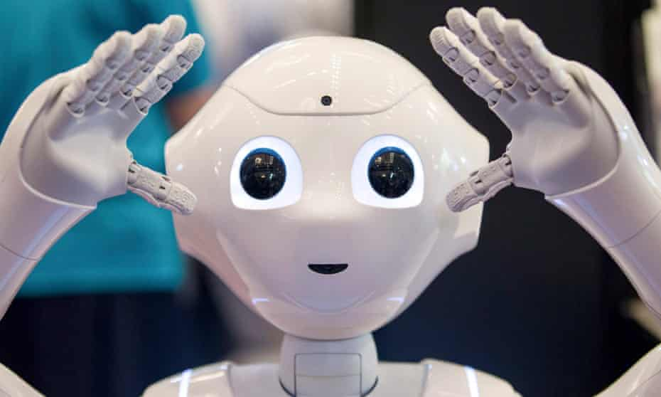 SoftBank Group Corp's Pepper robot, which can be used in fields such as healthcare, technology, education and retail.