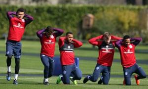 England football team training