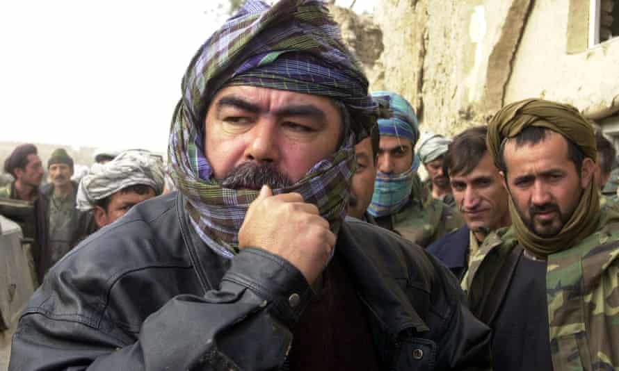 Dostum near Mazar-e-Sharif, northern Afghanistan, in November 2001 as the Taliban was forced from power.