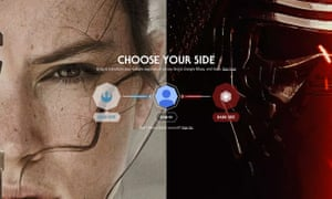 Select your side for Google Star Wars.