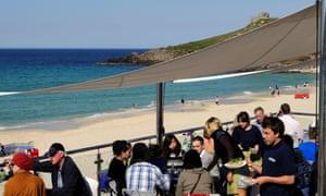 Cafe at Porthmeor beach, Cornwall.