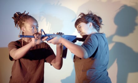 Amarnah Amuludun and Ellice Stevens in The Drill by Breach Theatre.