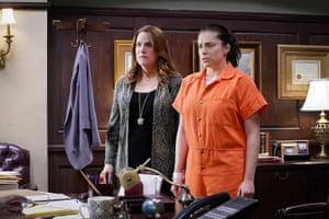 Donna Lynne Champlin and Rachel Bloom in Crazy Ex-Girlfriend.