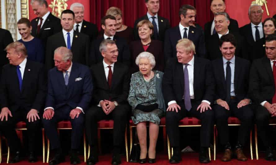 Queen Elizabeth II with Nato leaders