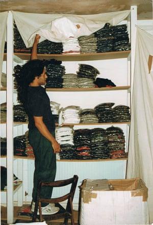 Hajjaj in the Neal Street RAP store.