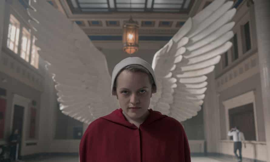 No angel ... June (Elisabeth Moss), in the Handmaid's Tale.