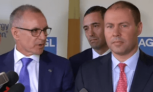 South Australian Premier Jay Weatherill  and Federal Energy Minister Josh Frydenberg