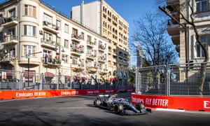 Valtteri Bottas won the Azerbaijan Grand Prix to give Mercedes a record four consecutive one-two finishes.