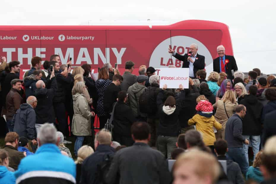 Jeremy Corbyn with former Blyth Valley MP Ronnie Campbell at a 2017 election campaign event. Campbell lost his seat in 2019, having been Blyth's MP for 32 years.