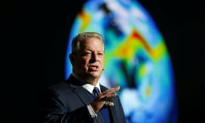 Al Gore speaks at the UN climate change conference in 2018 in Katowice, Poland
