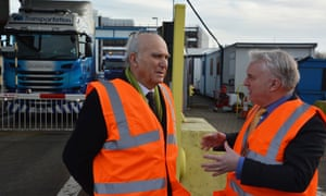 Vince Cable, left, with Gerald Vernon-Jackson