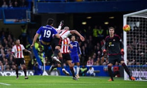 Chelsea's Diego Costa goes close.