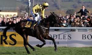 Paul Townend on Al Boum Photo crosses the finishing line to win the Gold Cup.