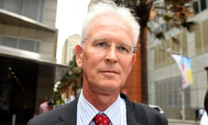 Former Knox Grammar headmaster Peter Crawley outside the royal commission
