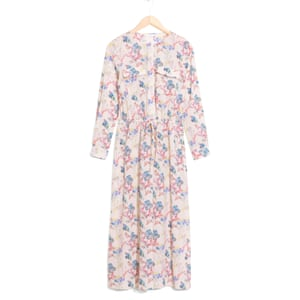 Coral print dress, £55, stories.com.