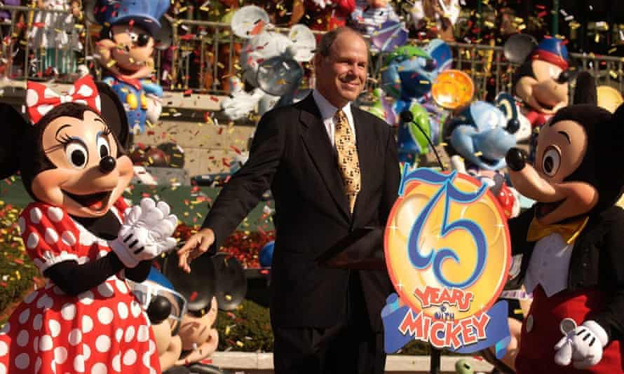 Michael Eisner, pictured here in 2003 as Disney's chairman and CEO, says he has been attracted by Portsmouth's support but would want a return on his investment.