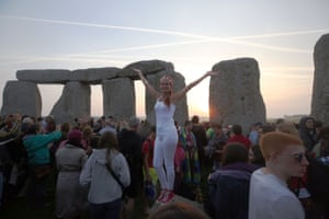A woman celebrates the summer solstice