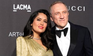 Francois-Henri Pinault and his wife, Salma Hayek.