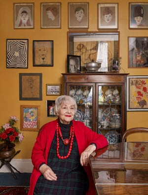 Blanche Marvin in her living room.