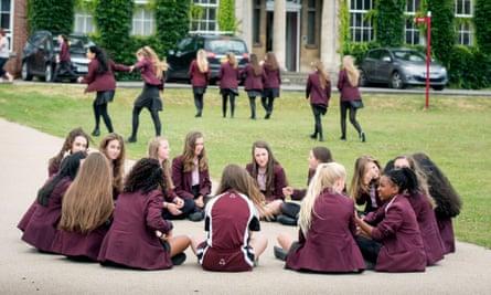 Pupils at Stroud high school