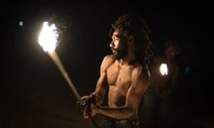 Tio Massing performing in Vanuatu's renowned fire show, back in 2013.