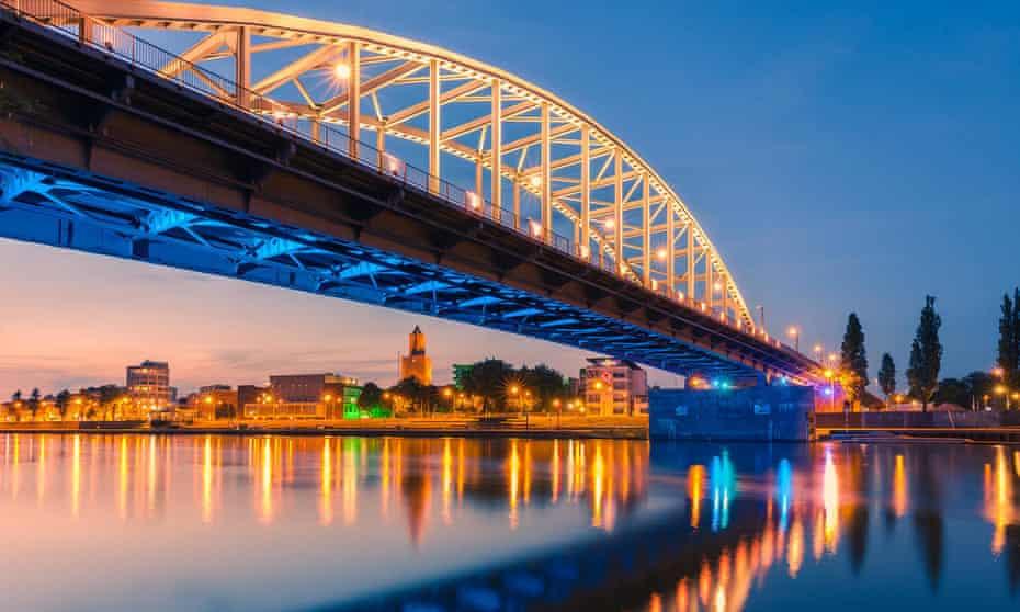 Road bridge over the Rhine at Arnhem