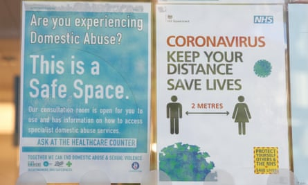 A safe space notice in the window of a Boots pharmacy, London, May 2020