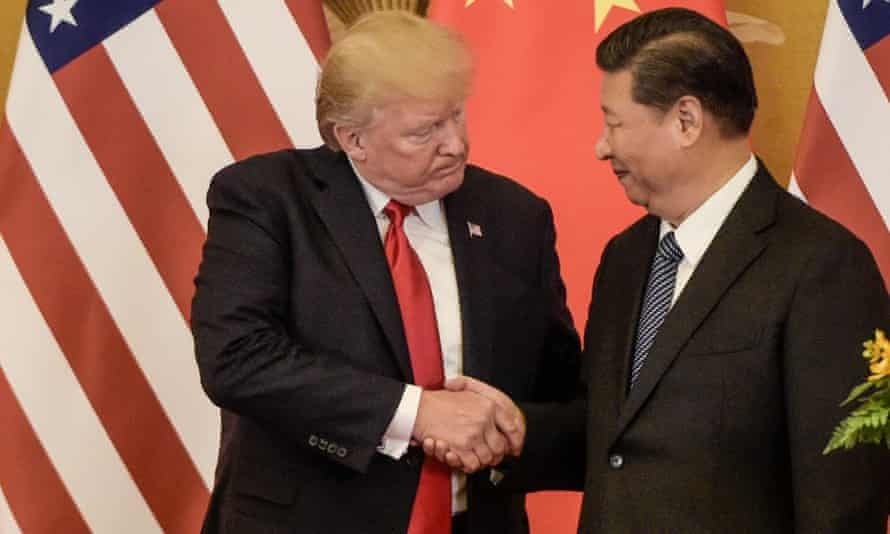 Donald Trump with China's President Xi Jinping in 2017. China said it will raise tariffs on $60bn worth of US goods from 1 June, in retaliation to the latest round of US tariff hikes.