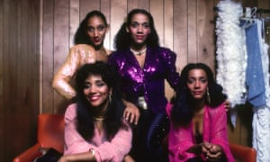 Getting lost in music... Sister Sledge, with Debbie top left, Joni bottom left.