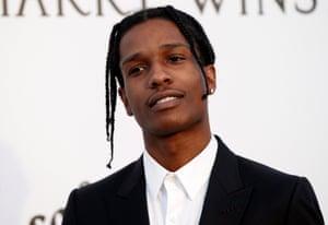 US rapper A$AP Rocky attends a 2017 gala in Cap d'Antibes, France.