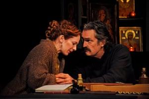 Katherine Parkinson and Rupert Everett in Uncle Vanya.