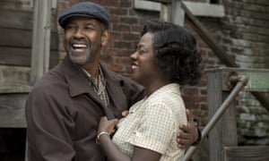 Great divide … Denzel Washington and Viola Davis in Fences. Davis was nominated for best supporting actress but Washington missed out.