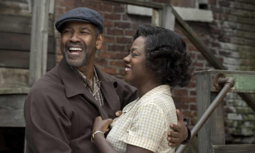 'In the 1950s women were an instrument for everyone else's joy except their own': Viola Davis with Denzel Washington in a scene from Fences.