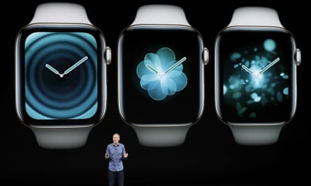 Jeff Williams, Apple's chief operating officer, announces the new Apple Watch.
