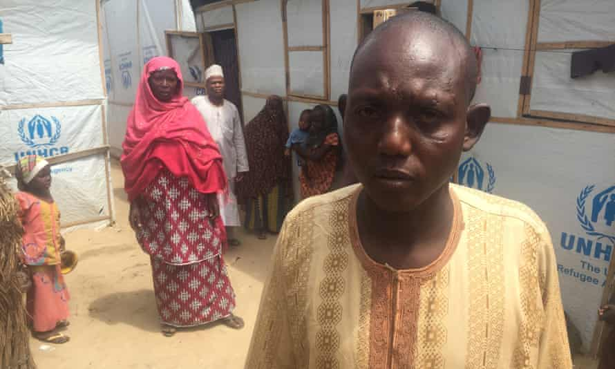 Bulama Modusalim is the informal leader of a makeshift camp for IDPs