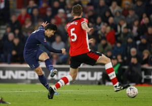 Heung-min Son fires into the bottom corner.
