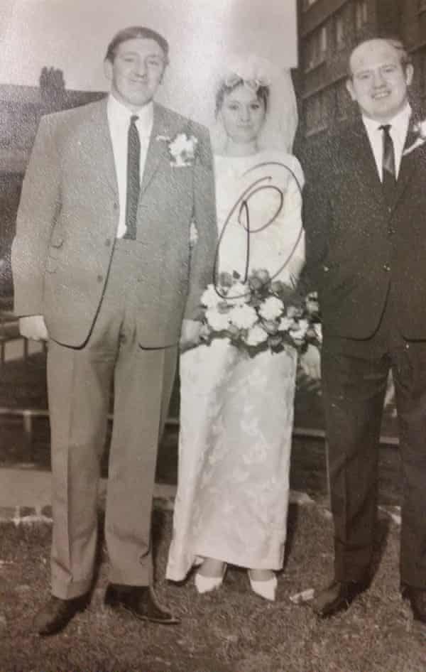 Rhodes (right) at his brother's wedding.